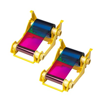 Zebra 2pack-800033-340 True Colours iSeries High-capacity YMCKO Color  Ribbon for ZXP Series 3 Card Printers  Replaces Zebra 800033-340  560 Total