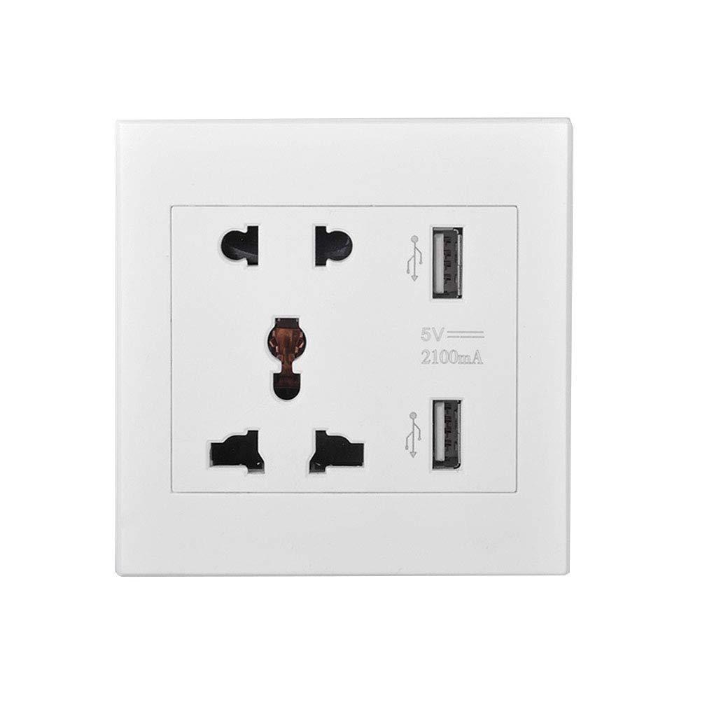 BoburyL Multifonction 5V USB Double Prise Murale Chargeur AC DC Adaptateur Secteur Port Sortie Panneau R/éceptacle