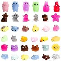 WATINC Random 12 Pcs Cute Animal Squishy, Kawaii Mini Soft Squeeze Toy,Fidget Hand Toy for Kids Gift,Stress Relief,Decoration,