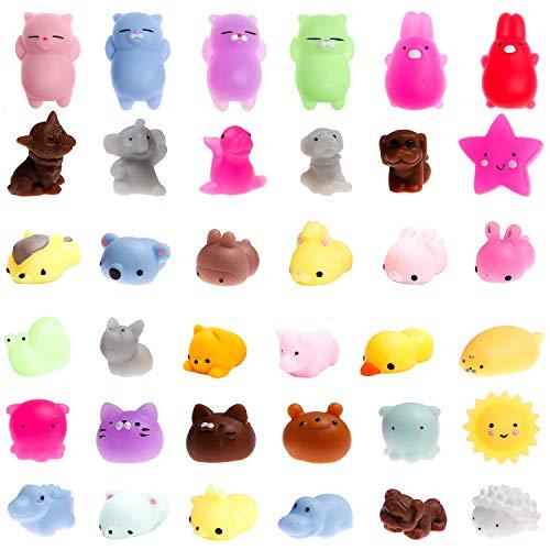 WATINC Random 12 Pcs Cute Animal Squishy, Kawaii Mini Soft Squeeze Toy,Fidget Hand Toy for Kids Gift,Stress Relief,Decoration,12 Pack
