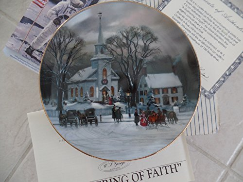 Christmas Eve W. S. George fine china plate Lloyd Garrison the 1988