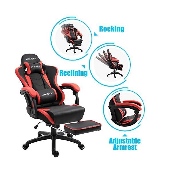 Dowinx Chaise Gaming Ergonomique pour Chaise de Jeu pour Ordinateur avec Support Lombaire de Massage, Fauteuil de Style…