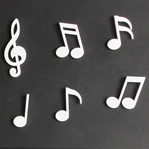 Sansukjai Set 6 Pcs White Melody Magnet, Magnet, Plastic Magnet, Home Decor, Kitchen Decor, - Mens Conductor Boot