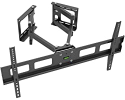 Monoprice 118669 Cornerstone Series Full-Motion Articulating TV Wall Mount Bracket - for TVs 37in to 63in Max Weight 132lbs V