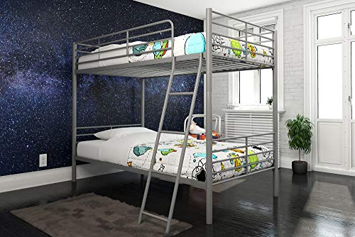 DHP Tailor Convertible Bunk bed, Converts to two Twin Beds, Twin-over-Twin, Silver ()