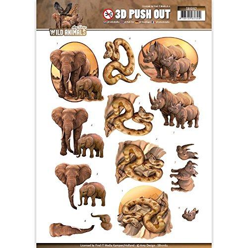 Amy Design Wild Animals 3D Push Out SB10162 Paper Tole 3-D Decoupage