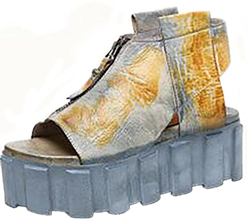 Wedge Leather Multicolour Women's Laruise Sandal qEC57Ixwa