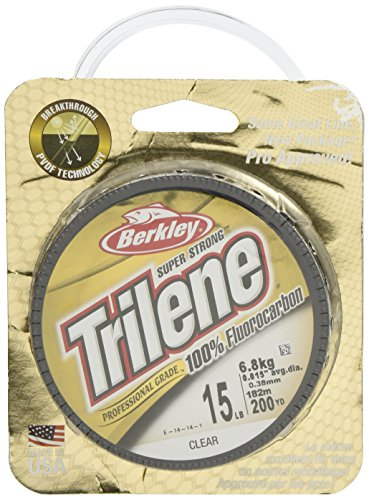 Berkley Trilene Fluorocarbon Professional Grade Filler Spool Fishing Line, Clear, 10 lb./200 ()