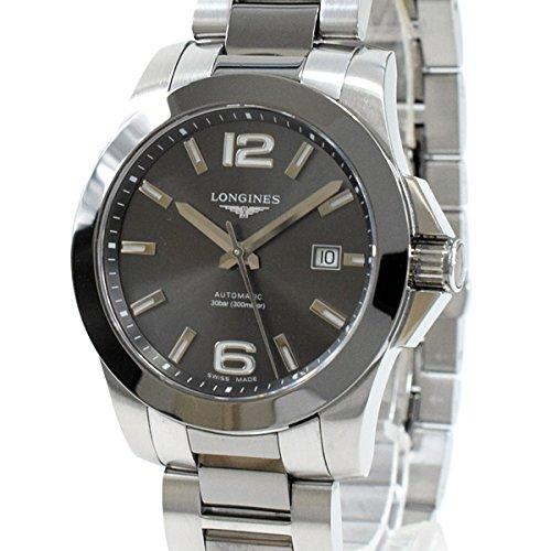[ロンジン]LONGINES 腕時計 コンクエスト L3.657.4.06.7 中古[1298448]グレー 付属:国際保証書 内箱のみ B07CKDBP7L