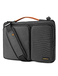 tomtoc Original 15.6 Inch Laptop Shoulder Bag with CornerArmor Patent, 360° Protective Laptop Sleeve for 15-15.6 Inch Dell HP Acer Lenovo Chromebook Ultrabook, Support up to 15.2 x 10.4 in, Black