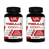 Tribulus 1000 mg 120 Tabs 2-Pack - Powerful Male Enhancement | Muscle Growth | Stamina | Boost Sexual Libido Health | Vitality | Energy