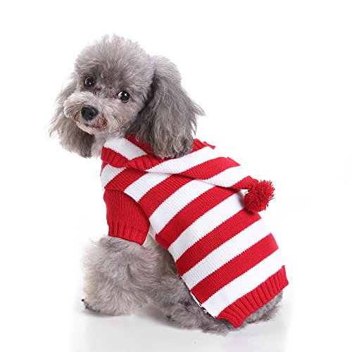 CHARLES RICHARDS Dog Sweaters Christmas Santa Reindeer Dog Apparel Winter Knitwear Warm Clothes for Dog
