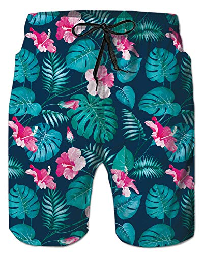 Alistyle Hawaii Print Funny Swim Board Shorts for Mens Boys ()
