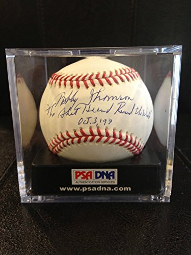 Bobby Thomson PSA/DNA Certified Shot Heard Around The World Autographed Signature Major League Baseball (Signature Baseball Thomson)