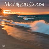 Michigan Coast 2019 12 x 12 Inch Monthly Square Wall Calendar, USA United States of America Midwest State Nature (Multilingual Edition)