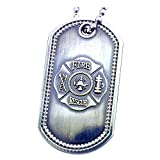 #9: Firefighter's Prayer Fire Rescue Brushed Steel Dog Tag
