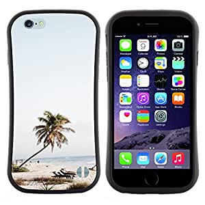 "Hypernova Slim Fit Dual Barniz Protector Caso Case Funda Para Apple (5.5 inches!!!) iPhone 6 Plus / 6S Plus ( 5.5 ) [Árbol Sillas de playa Mar Azul Cielo""]"