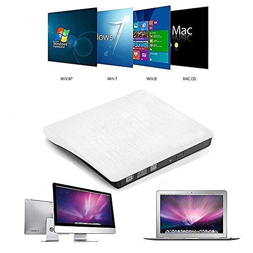 Nestling® USB3.0 DVD-RW DVD/CD Brenner Slim extern Laufwerk Portable(tragbar) DVD CD Brenner, 9,5mm Chip,Superdrive für alle Laptops/Desktop, PC unter Windows und Mac OS für Apple Macbook, Macbook Pro, MacbookAir, iMac