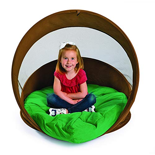 Discount School Supply Hideaway Log Chair with Cushion,Kids Retreat Quiet Space Play Tent by Environments (Item # Burrow)