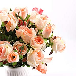 Yunuo 3PCS Artificial Flowers Fake Rose Perfect Wedding Decorations, Baby Showers,Home Decoration 1