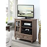 Convenience Concepts 8067000DFTW Tahoe TV Stand, Driftwood