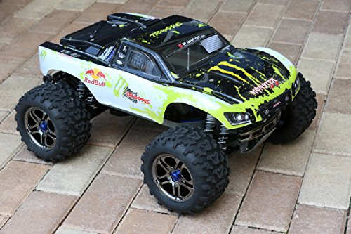 Muddy Monster Body White/Black for T Maxx E Maxx 1/10 Shell w/ Decal Sheet 3911R E-Maxx (Body Only, Truck Not Included) E-maxx Rc Truck