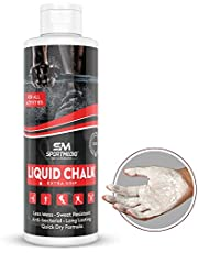 SPORTMEDIQ Pro Grade Liquid Chalk – Mess Free Professional Hand Grip for Gym, Weightlifting, Rock Climbing, Gymnastics, Rock Climbing - Dries in Seconds - 8.5 Oz
