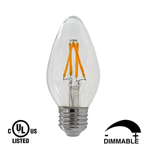 Dr.Lamp F15 3W Led Candle Lights Dimmable ,LED Filament Bulb Replace 40W  Incandescent