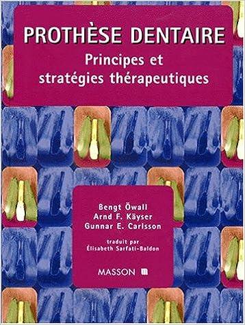 Télécharger en ligne Prothese dentaire : principes et strategies therapeutiques pdf ebook