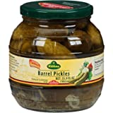 jar of pickles - Kuehne (former Gundelsheim) Kosher Pickle in Glas Barrel Jar 1062 ml - 34.2 fl Oz