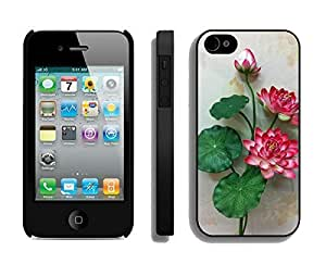 diy zhengElegant Apple Ipod Touch 4 4th /s Case Durable Soft Silicone TPU Flower Florals Designer Black Phone Cover Accessories for Ipod Touch 4 4th /