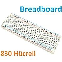 Robotekno Breadboard 17CM x 5.5CM 830 Hücreli Bread Board Arduino PIC