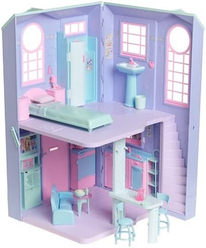 Amazon.com: Barbie TALKING TOWNHOUSE Playset TOWN HOUSE w LIGHTS, SOUNDS &  More! (2002): Toys & Games