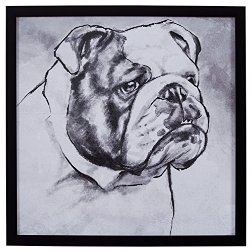 Stone & Beam Modern Black and White Print of English Bulldog