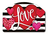 Heart with Stripe Love Valentine Yard DeSigns Magnetic Art #71690