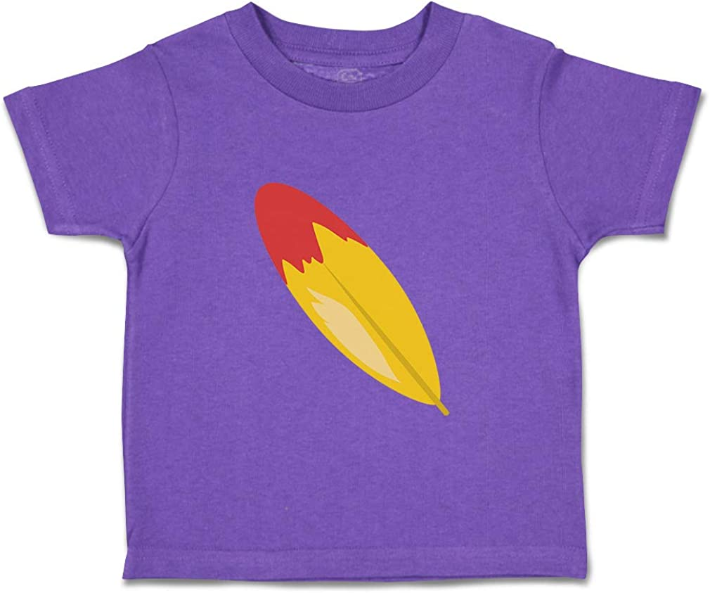 Custom Baby /& Toddler T-Shirt Feather Red Cotton Boy Girl Clothes