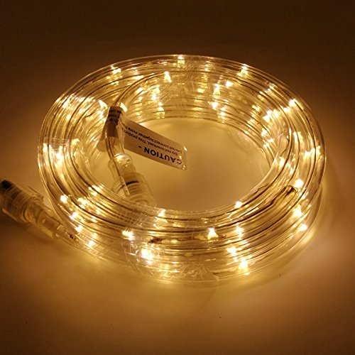 UL Certified 16 Feet 80 LED Connectable Rope Tube Light Indoor Outdoor Party Holiday Light Warm White ()