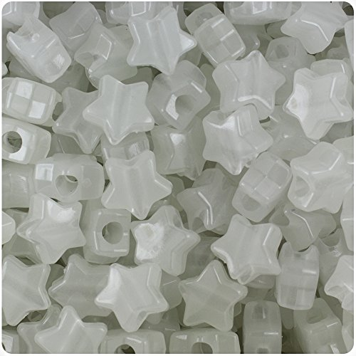BeadTin Night Glow-in-the-Dark 13mm Star Pony Beads (250pcs)]()