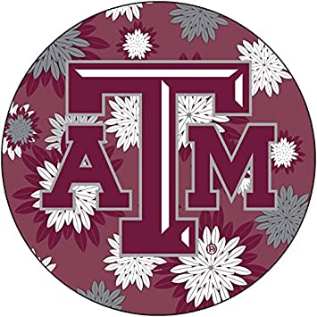 Amazon Com R And R Imports Inc Texas A M Aggies Ncaa Collegiate Trendy Floral Flower Fashion Pattern 4 Inch Round Decal Sticker Automotive