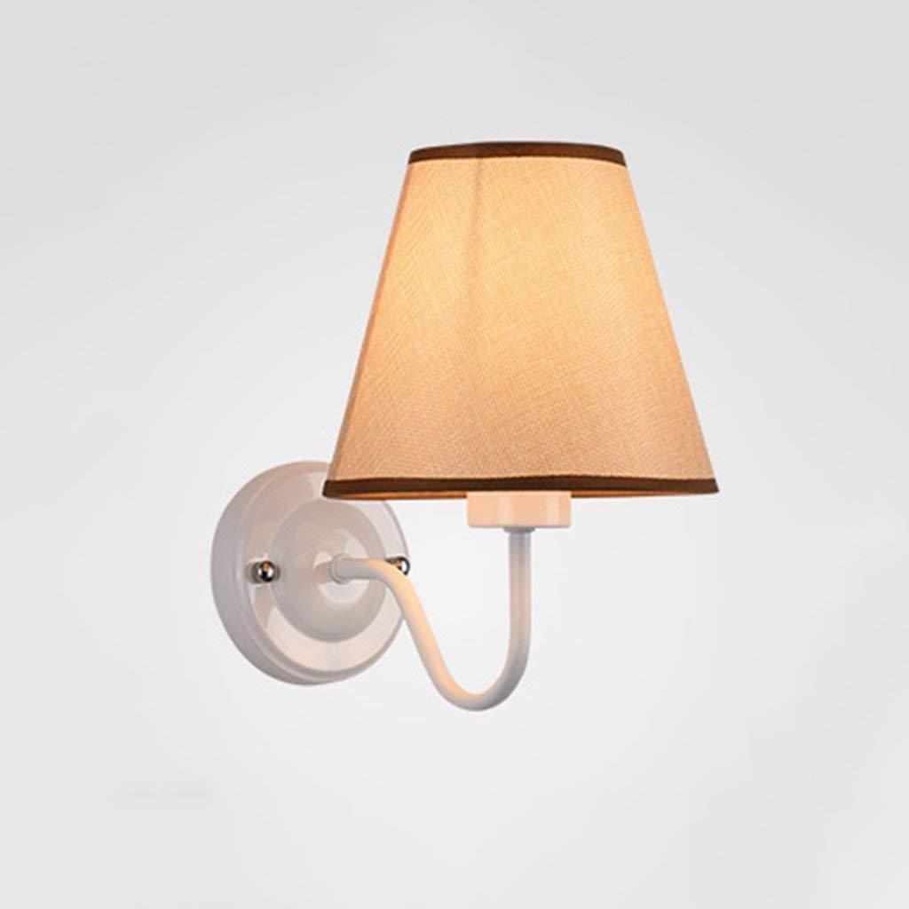 JZX Wandleuchte, Lampenschirm-Schlafzimmer-Nachttischlampe, einfache Moderne Korridorlampe