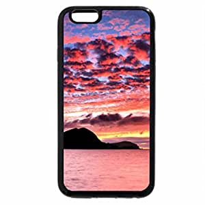 iPhone 6S / iPhone 6 Case (Black) Mountain Silhouette and Sunset Clouds