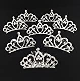 Bridal Shower Party Favors - 8-Count Embellished Rhinestone Tiaras for Her