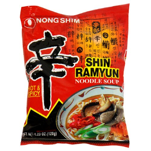 Nong Shim, Shin Ramyun Noodle Soup Gourmet Spicy (Pack of 20)