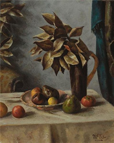 Oil Painting 'Henry Lee McFee,Fruit And Leaves,1938', 30 x 38 inch / 76 x 96 cm , on High Definition HD canvas prints is for Gifts And Home Theater, Kids Room And Living Room Decoration