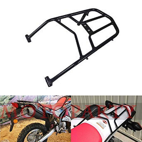 Racks Saddlebag (Motoparty Rear Seat Luggage Carrier Rack For Honda CRF250 CRF250L CRF250M Rally H2C CRF 250 Rear Fender Rack Saddlebag Cargo Shelf Bracket 2012-2017,Black)