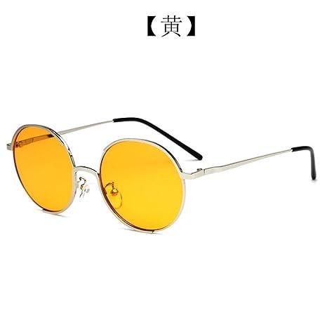 Yangjing-hl Nuevas Gafas de Sol Redondas Mujeres Moda Diseño ...