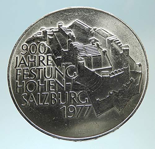 1977 AT 1977 AUSTRIA Hohensalzburg Castle in SALZBURG - A coin Good Uncertified