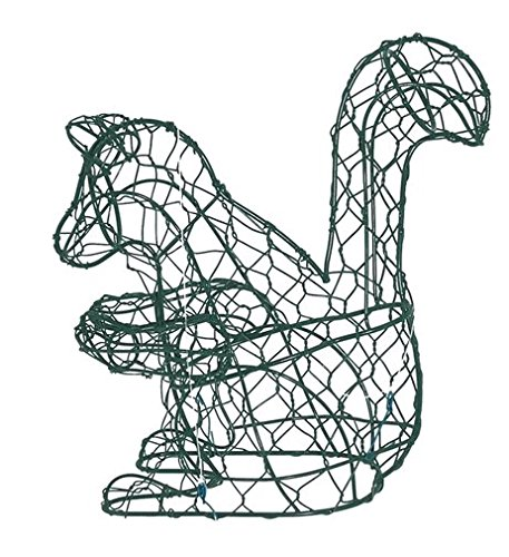 (Squirrel 8 Inches High Topiary Frame, Handmade Animal Decoration)