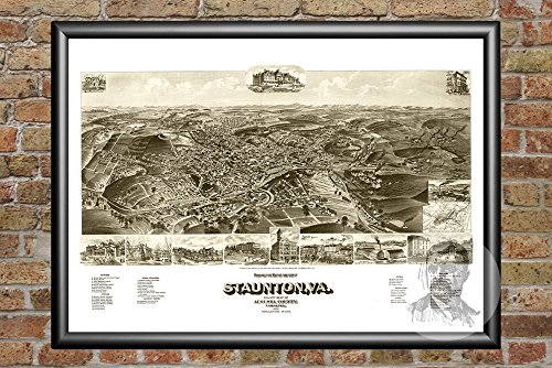 - Ted's Vintage Art Staunton Virginia 1891 Vintage Map Print | Historic Augusta County, VA Art | Digitally Restored On Museum Quality Matte Paper 18
