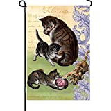 Premier 51938 Garden Illuminated Flag, Feline Family, 12 by 18-Inch